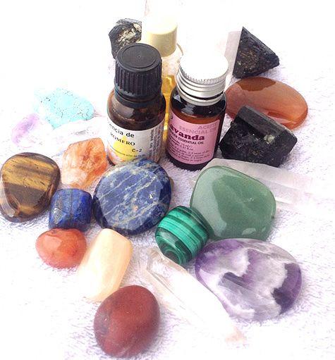 cristaloterapia y aromaterapia